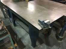 """Cast Iron Surface table 72.5"""" x"""