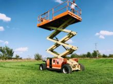 Used Rough Terrain Scissor Lifts for sale  Genie equipment