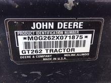 1997 John Deere GT262