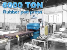 Sip 6000 ton rubber pad press H