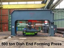 Bakker 500 ton Dish end forming
