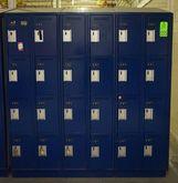 Lot of Blue Employee Lockers (2