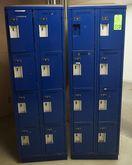 Lot of Blue Employee Lockers (1