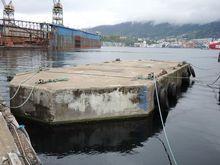 floating  Beton Barge