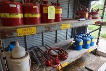 Lot Asst. Gas, Kerosene Cans &