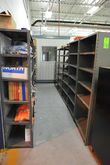Sections of Grey Metal Shelving