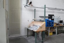 Spraying workstation