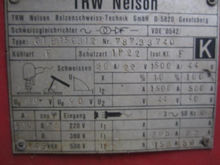 TRW Nelson welding machine type