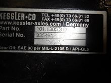 KESSLER D102 PL341 FRONT AXLE