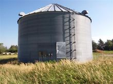 Farm Land Grain Bin