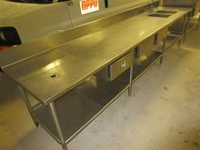 12' Stainless Steel Prep Table