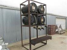 Shop Built 4 Barrel Oil Stand