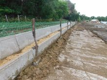 Cement Fence Line Feed Bunks