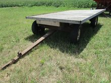 Wood Flatbed Wagon on Running G