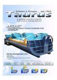 Scrap press TAURUS MIZAR MB 50