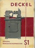 1970 Deckel S1 manual
