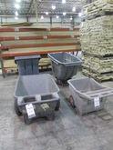 Lot Plastic Material Carts Cons