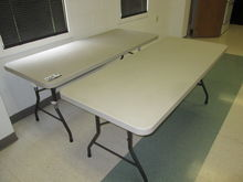6ft Plastic Top Table, w/ Foldi