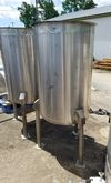 Qty (4), used 50 gallon stainle