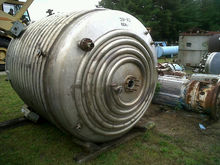 used 1,500 gallon, 316L Stainle