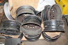 Pallet with various steel wheel