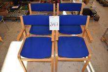 4 pcs. chairs, blue fabric (Auc
