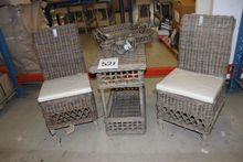 2 pcs wicker chairs + table + d