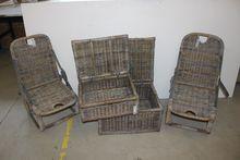2 pcs beach chairs + 2 baskets