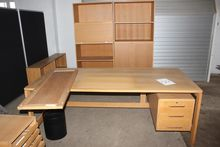 Desk with drawers + cupboards a