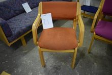 2 pcs. chairs, worn fabric, bee