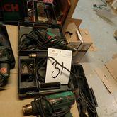 4 pcs. BOSCH drills, heat guns