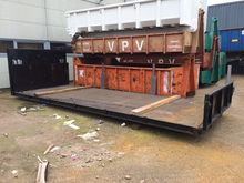 Hook arm and cable container /