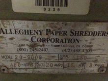 Allegheny 20-300C Industrial Pa