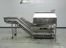 Used- Inclined Conveyor With Ho