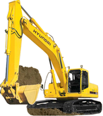 New Tracked excavato