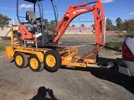 Kubota TRAILER AND KX41-3V