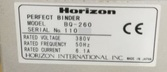 HORIZON BQ-260 Single Clamp Per