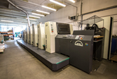offset printing machine with co