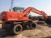 Hitachi tyre excavator 100WD-3