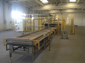 Packaging line for beds or simi
