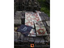 Cement Tiles with flowers - 24