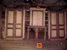 Set of oak and poplar woodwork