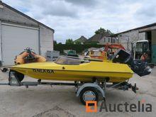 Speed Boat + single axle trai