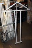 5 wit gelakte metalen opbouwele