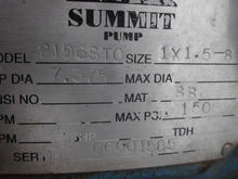 SUMMIT 3196STO PUMP