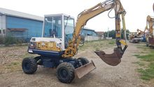 Mini excavator, wheeled Komatsu