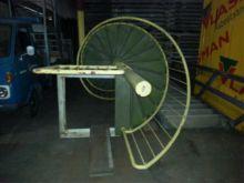 Gebruikte spindel trap houten t