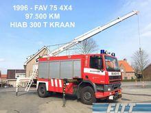 1996 DAF FAV 75 4x4 brandweer -