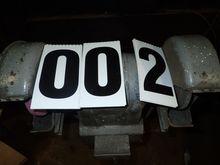 """8\"""" PEDESTAL GRINDER 3/4 HP 220"""