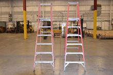 LOT OF 2 ASSORTED LADDERS